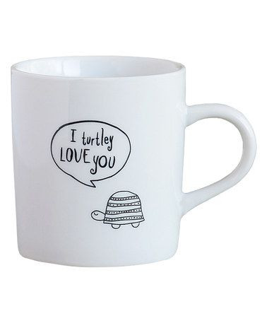 Another great find on #zulily! 'I Truly Love You' Turtle Thought Bubble Mug #zulilyfinds