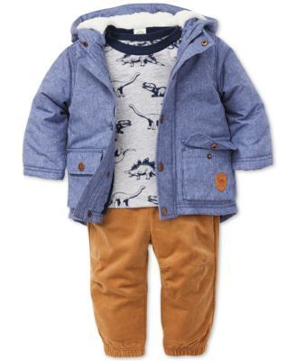 Baby Boys 3-Pc. Jacket, Top & Pants Set