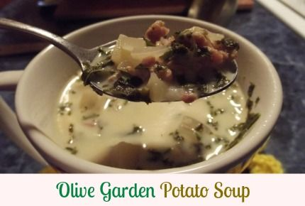 Olive Garden  Zuppe Tascano (Potato Soup)  REALLY EASY and so good.   I added a little pepper flake for a little kick.