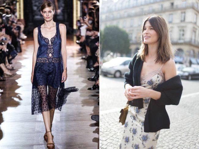 Slip dress - 'underwear' as outerwear