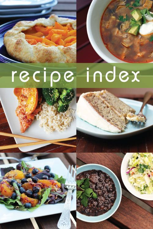 Master recipe index for all recipes on This Week for Dinner.