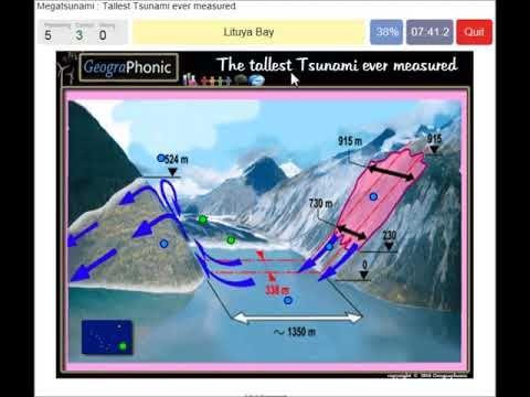 Tsunami in Alaska, Lituya Bay ,  Tallest Tsunami ever measured,