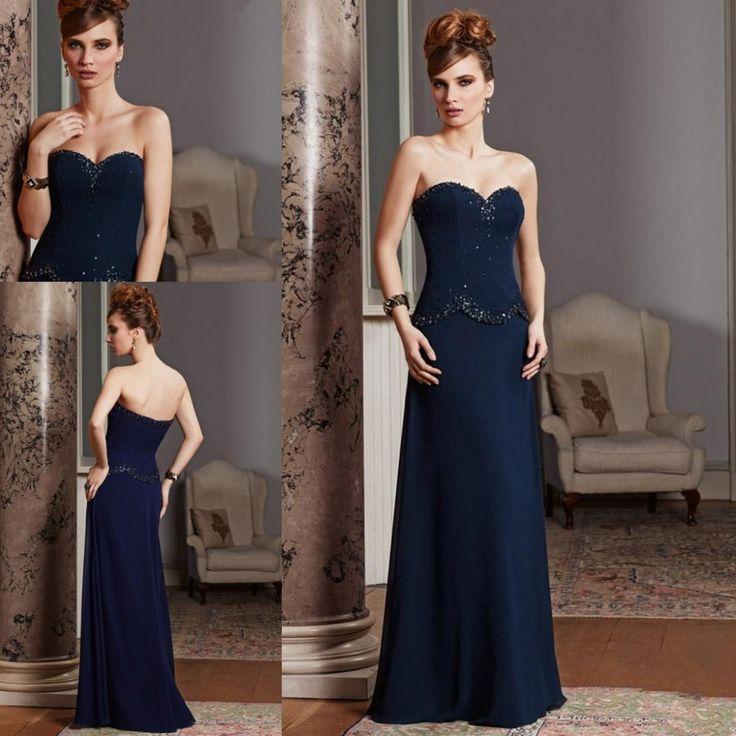 Купить товар2015 с плеча матери невесты платья темно синий шифон с аппликациями особых поводов вечерние платья в категории Мамам молодожёновна AliExpress.