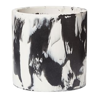 Zakkia Cloud Pot / Monochrome interior design elements / Black and white painted pot vase