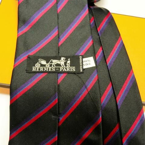 Extremely rare handrolled edge HERMES Tie