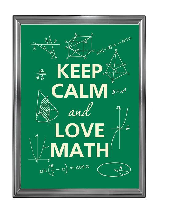 Keep calm and love math by Agadart on Etsy, $12.00