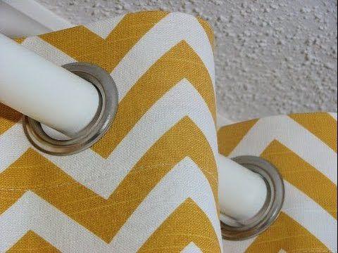 Расчет ткани для пошива штор на люверсах.