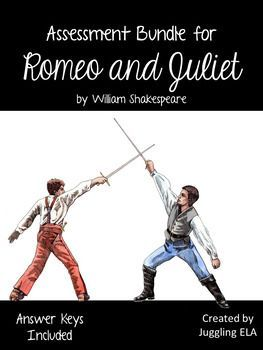 In this bundle you will find 6 tests and 2 quizzes for the play Romeo and Juliet by William Shakespeare. There are answer keys included for all of the tests in this bundle. All of the tests are fully editable.
