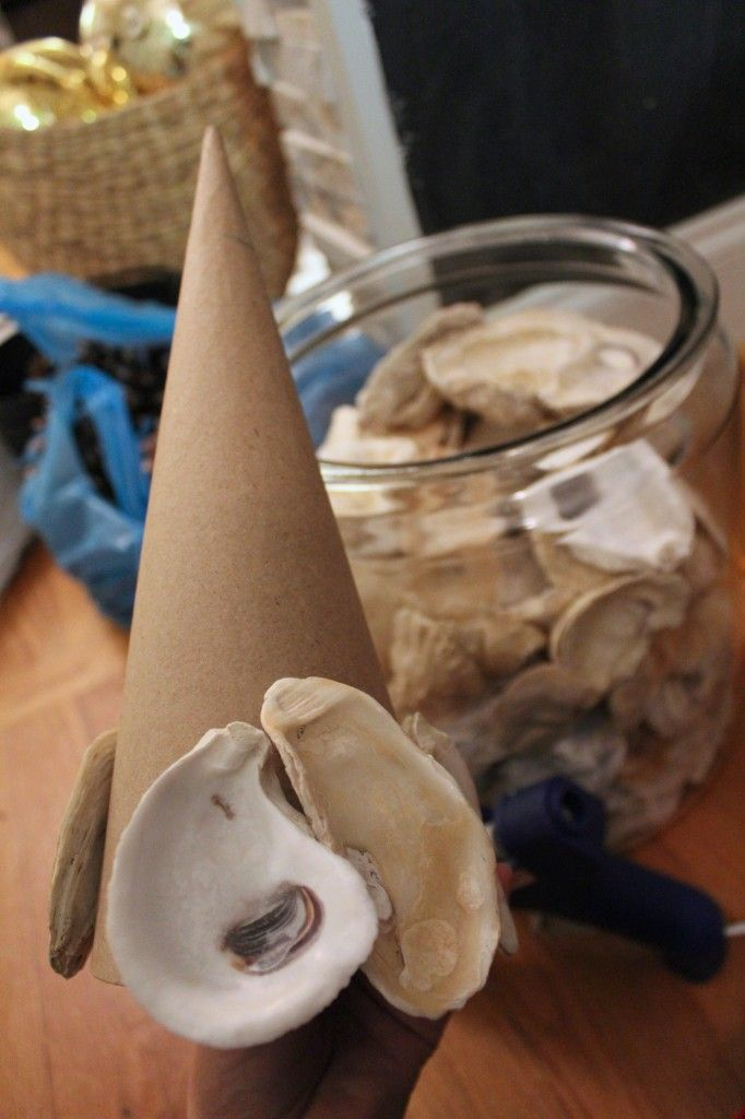 oyster shell christmas tree ornaments