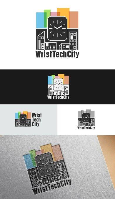 Logo for a smartwatch news