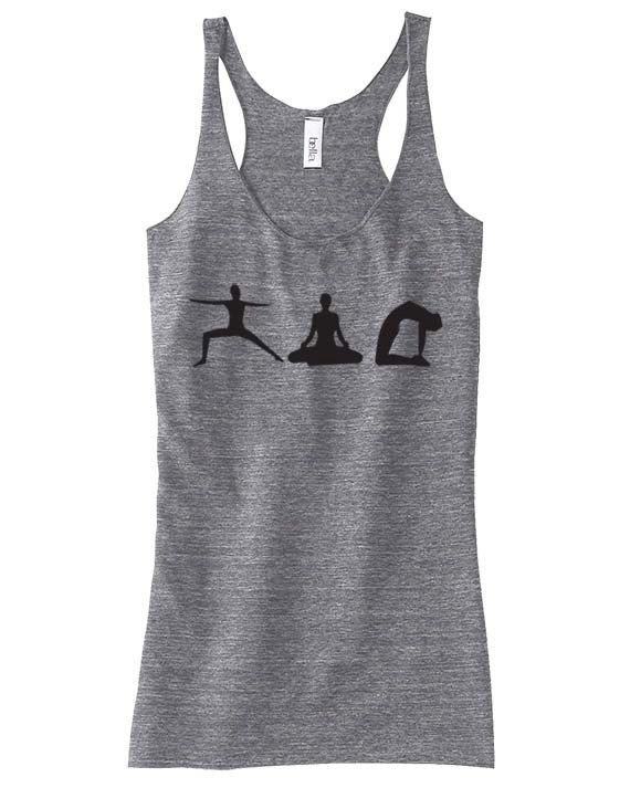 Women's YOGA POSE -Bella Racerback Tank - Exercise Clothing - Gift for Mom or Her on Etsy, $20.00