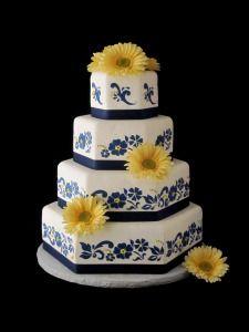 Royal Blue and Yellow Wedding Creation