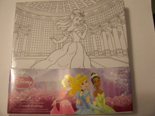 Disney Coloring Board with Markers  Princess Belle