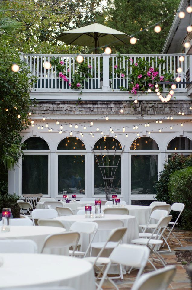 We Love Seeing The Patio All Dressed Up For A Wedding Rose Hill Weddings Pinterest Venues And