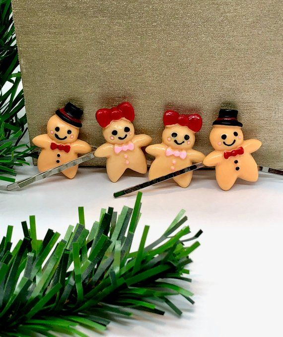 Party Christmas Hair Clips Winter Holiday Barrettes Stocking Stuffers
