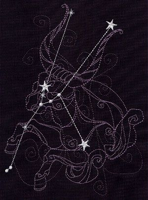 Ecliptic Constellations - Taurus | Urban Threads: Unique and Awesome Embroidery Designs