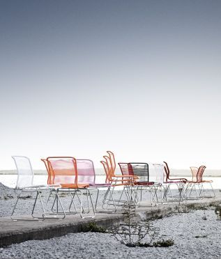 Panton One chairs.  #montana#danish #design #furniture #chairs #verner #panton #outdoor #stackable
