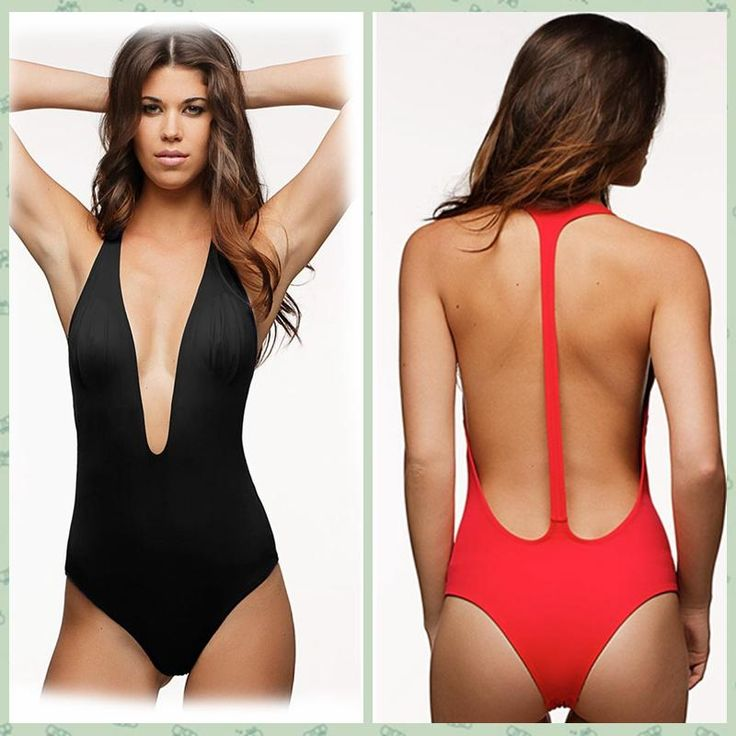 Discount Red Black Bodysuit Sexy Deep V Neck High Cut 1 One Piece Swimsuit Backless Swimwear Women Bathing Suit Beachwear Monokini Maillot 41431 From China | Dhgate.Com