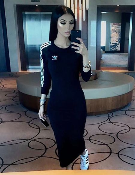 Faryal Makhdoom on Instagram May 8, 2017, wearing an Adidas Dress http://shopstyle.it/l/hcm and Adidas Shoes http://shopstyle.it/l/hdd. #style #celebstyle #adidas #instagram