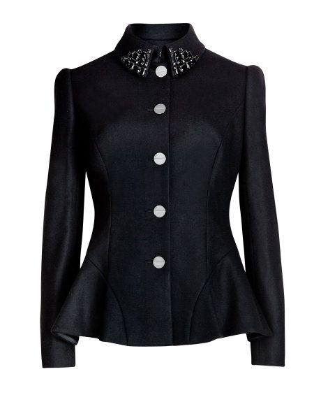 JODYN | Embellished peplum jacket - Black | Jackets & Coats | Ted Baker www.MadamPaloozaEmporium.com www.facebook.com/MadamPalooza