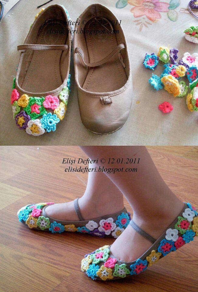 Zapato con tejido