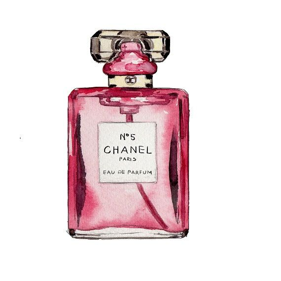 Chanel No 5 Print Watercolor Fashion by LadyGatsbyLuxePaper, $10.00