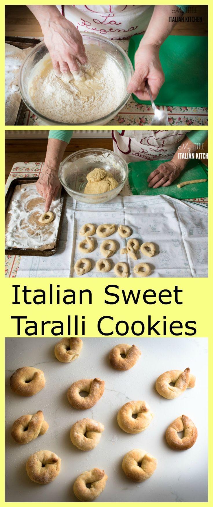 Italian sweet taralli cookies with wine.