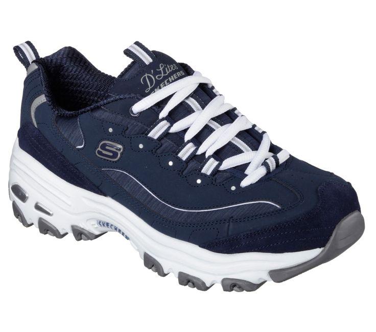 11936 Navy D'Lites Skechers Shoe  Women Sport Casual Comfort Soft Memory Foam