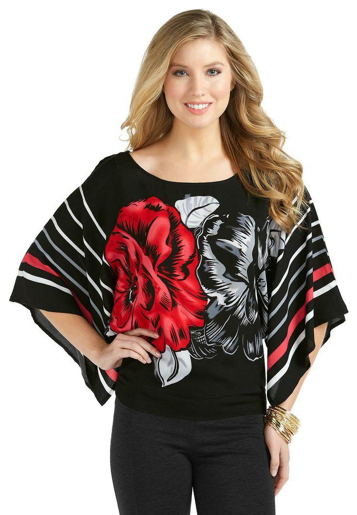 Rose Print Dolman Top Plus Shirts Blouses Cato Fashions Body Pinterest Dolman Top
