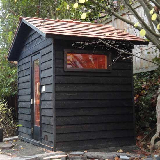 5'x7' Outdoor Sauna Kit + Heater + Accessories + Roof Options