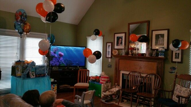 We had the Nemo screensaver from the dvd setting the mood along with the Finding Nemo soundtrack playing in the background.