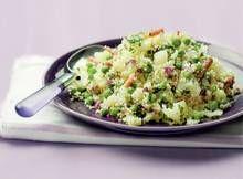 Couscous met bloemkool, tuinerwten en spekjes - Recept - Allerhande - Albert Heijn