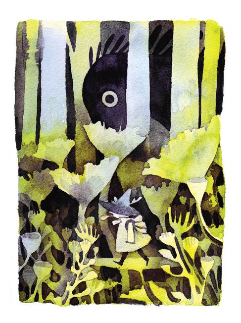 watercolour on 140lb arches paper Snufkin from Tove Jansson's Moomin comics Thanks for looking!