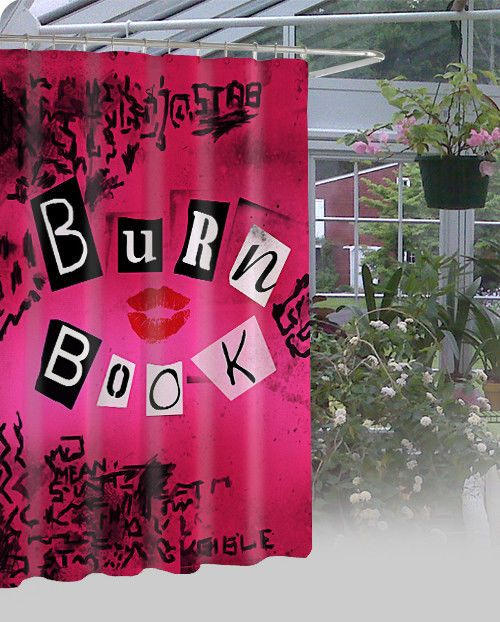 """New Mean Girls Burn Book Cover Style High Quality Shower Curtain 60"""" x 72"""" #Unbranded #Modern"""