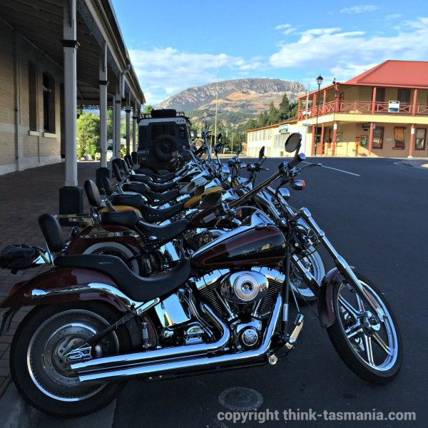 #Motorbikes parked at the Empire Hotel #Queenstown #Tasmania Photo and article for think-tasmania.com