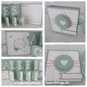 Stampin Up_Accordeon Card_Akkordeon Karte_Hochzeit_Minzmakrone_Saharasand_Stempelfantasie