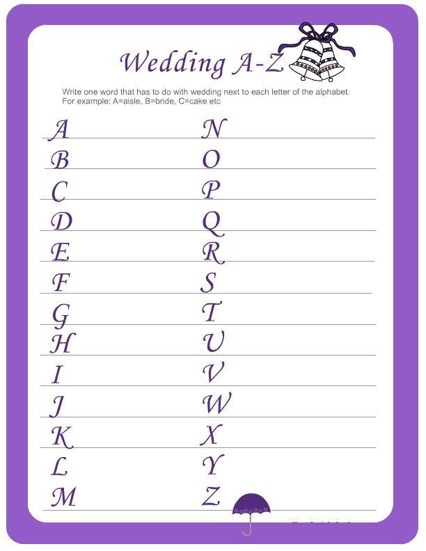 10 Free Bridal Games For Showers Printable | visit www.freetemplateideas.com