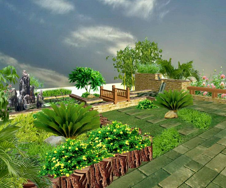 Beautiful garden design modern luxury homes beautiful for Beautiful garden ideas