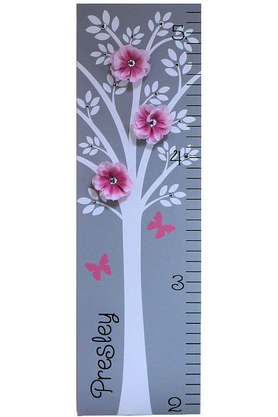 Personalized Growth Chart Children Baby by onehipstickerchic