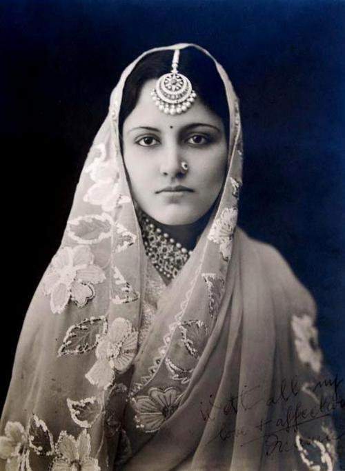 Maharani Narindar Kaur of Kapurthala.