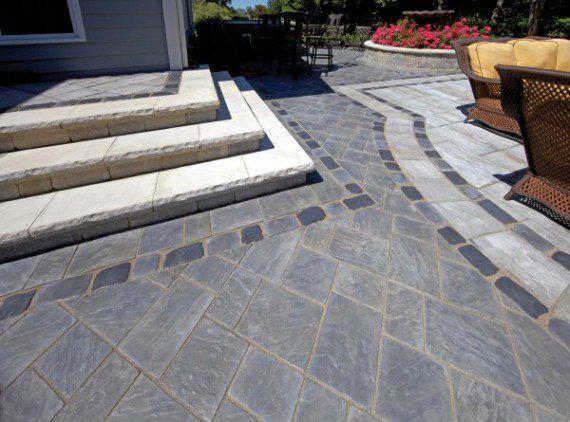 unilock patio and steps with richcliff paver photos - Unilock Patio Designs