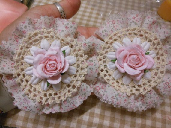 2 x  Shabby Chic/Vintage Flower by jennings644 on Etsy