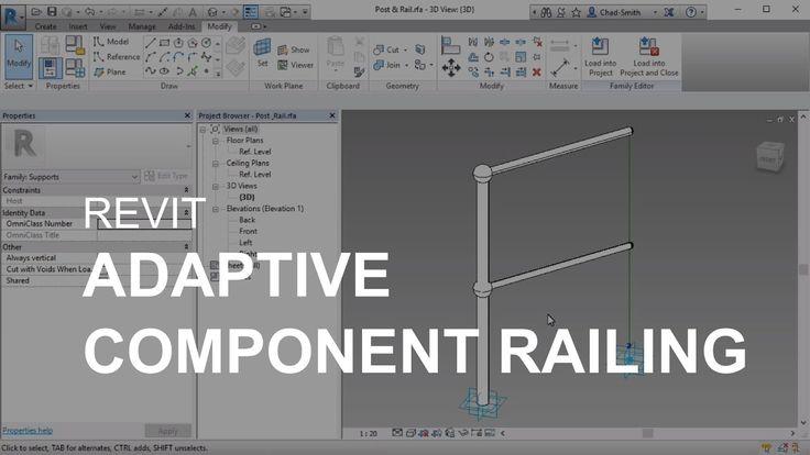 Revit Adaptive Component Railing