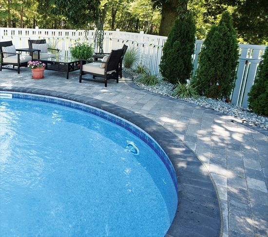 pool deck with ep henry imperial bullnose pavers bullnose paver