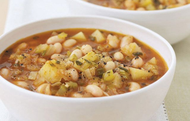 Bean and rosemary soup