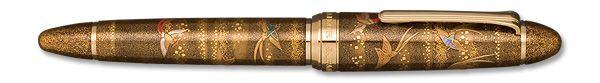 木軸黒檀加賀高蒔絵万年筆(尾長鳥) | セーラー万年筆 |公式ウェブサイト