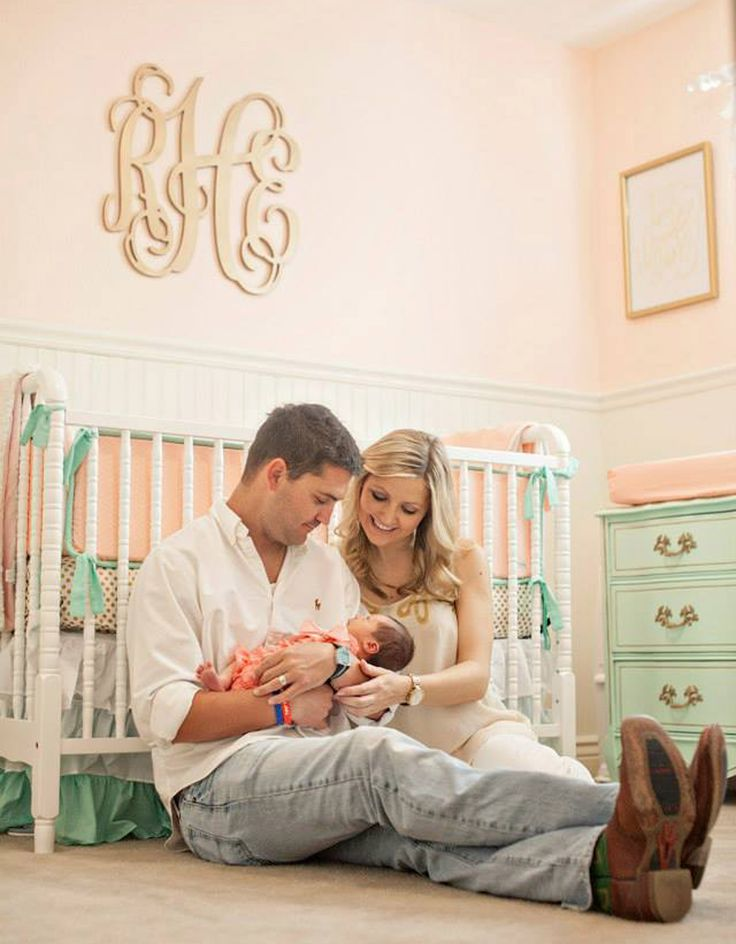 A must have baby picture - in front of the crib in the nursery