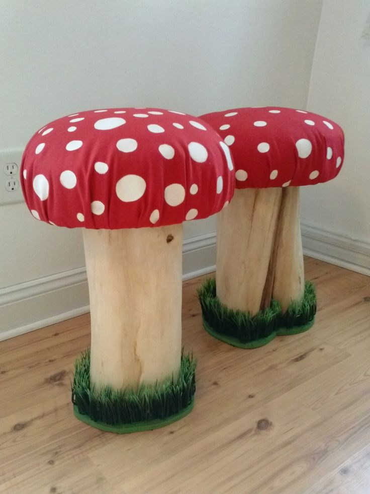Mushroom Stool Handmade Raw Wood Stool Toadstool Chair