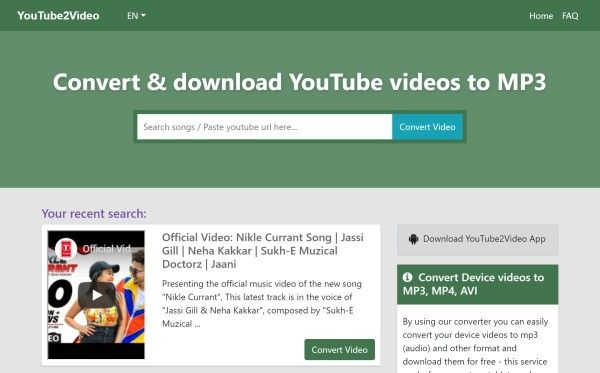 Convert Download Youtube Videos To Mp3 Mp4 Youtube To Video