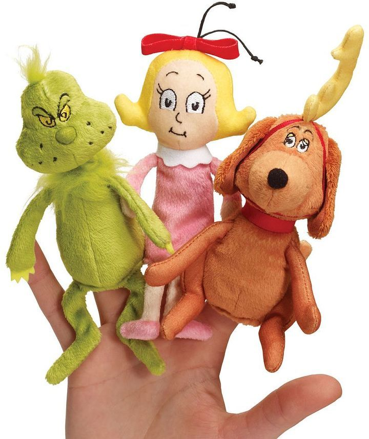Manhattan toy Dr. Seuss's The Grinch Finger Puppet Set by Manhattan Toy  https://api.shopstyle.com/action/apiVisitRetailer?id=483416378&pid=uid8100-34415590-43